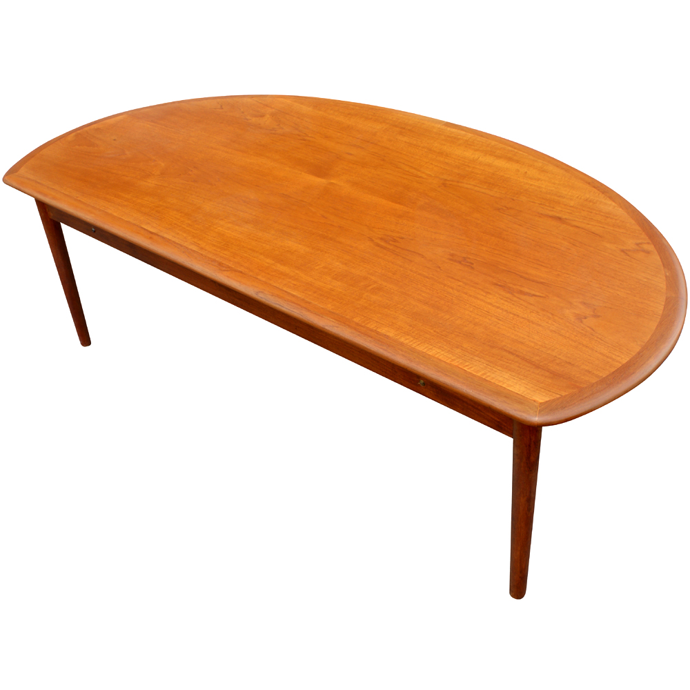 60 mid century modern vintage half moon coffee table ebay for Mid century modern coffee table