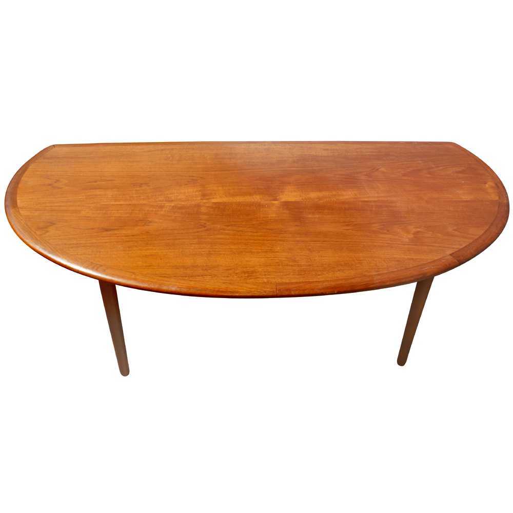 Details About 60 Mid Century Modern Vintage Half Moon Coffee Table