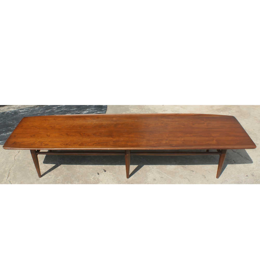 70 Long Vintage Walnut Coffee Table Ebay