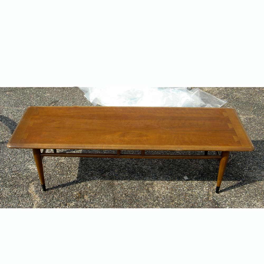 54 Mid Century Modern Lane Two Tone Low Coffee Table Ebay