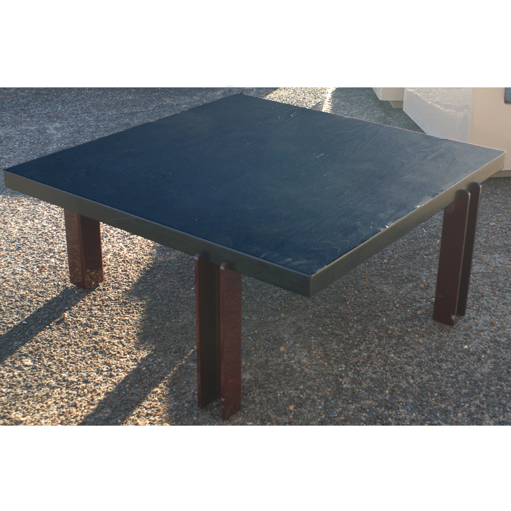36 Square Memphis Style Ebonized Coffee Table Ebay
