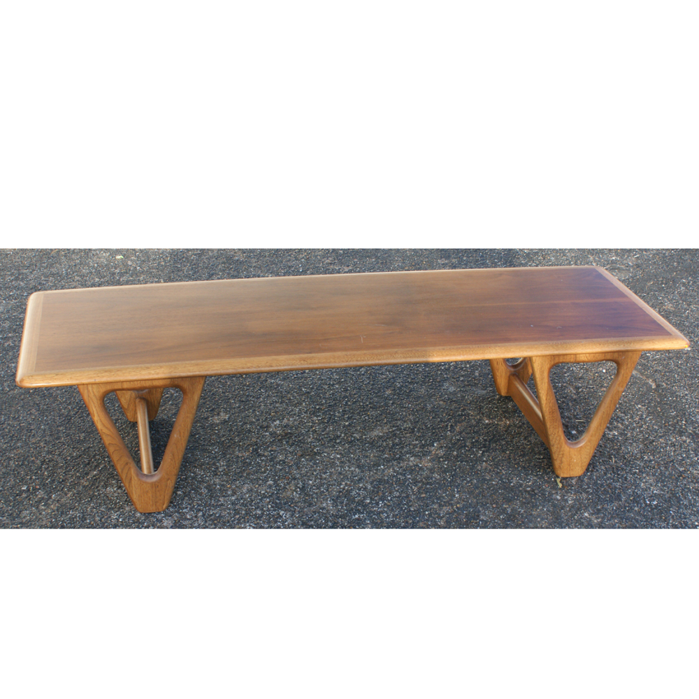 Vintage Danish Coffee Table Walnut Two Tone Finish
