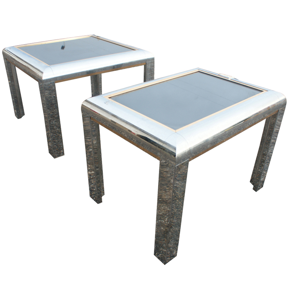 Details About Pair Mid Century Modern Coffee Table Set