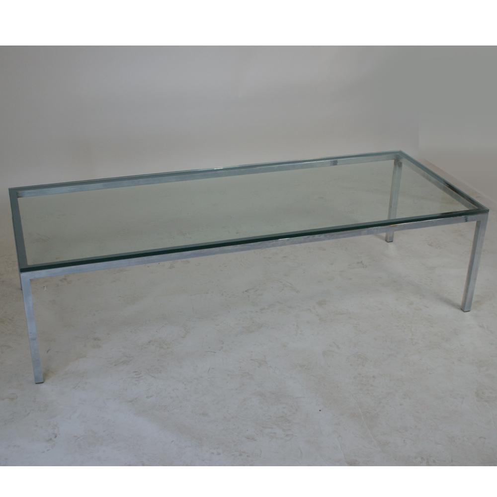 5ft florence knoll style chrome glass coffee table for 5ft coffee tables