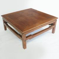 Rare Chinese 19th Century Square Low Yumu Coffee Table