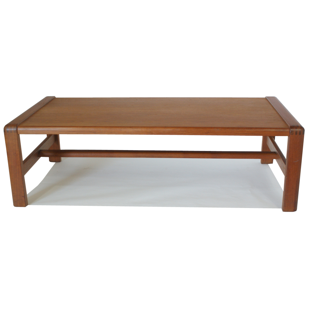 Vintage Danish Coffee Table Finger Joint Two Tone Wood Construction. Finger  Joint Construction To Edges