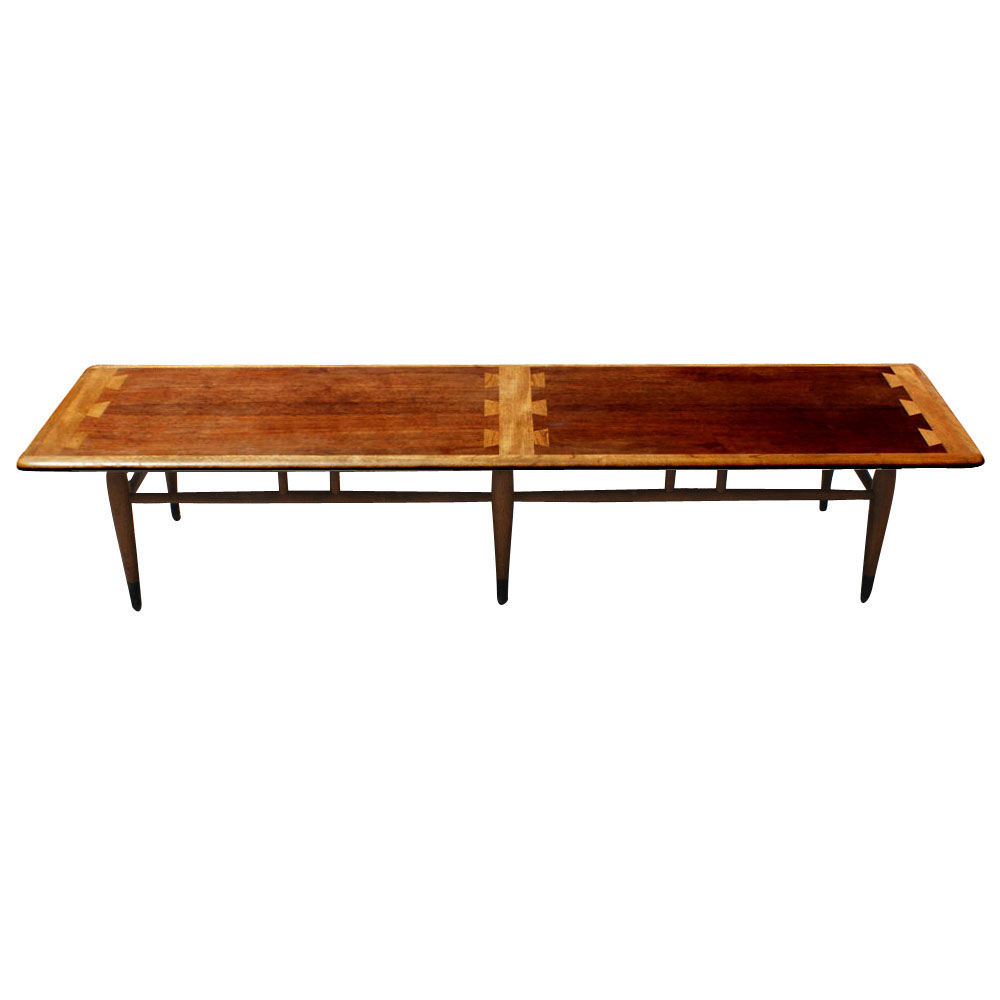 Details About Mid Century Lane Walnut And Teak Coffee Table
