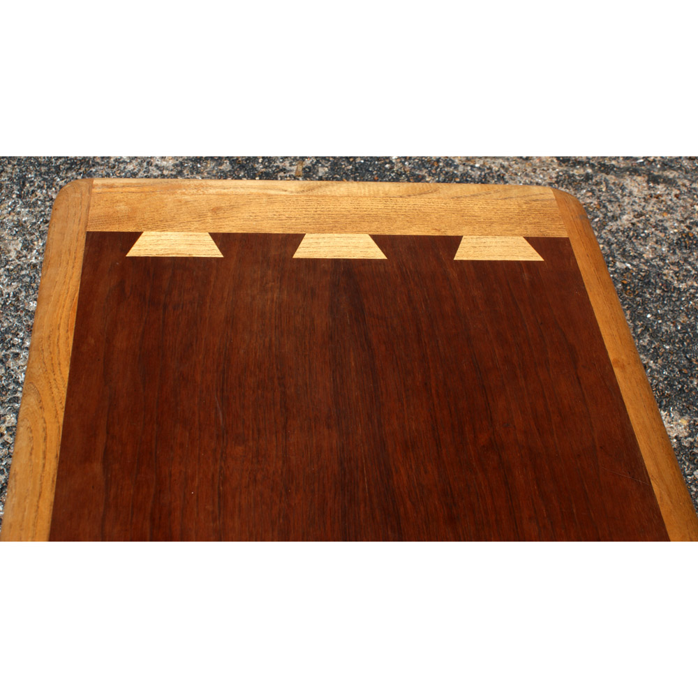 1950s Mid Century End Table By Lane Furniture: Mid Century Lane Walnut And Teak Coffee Table
