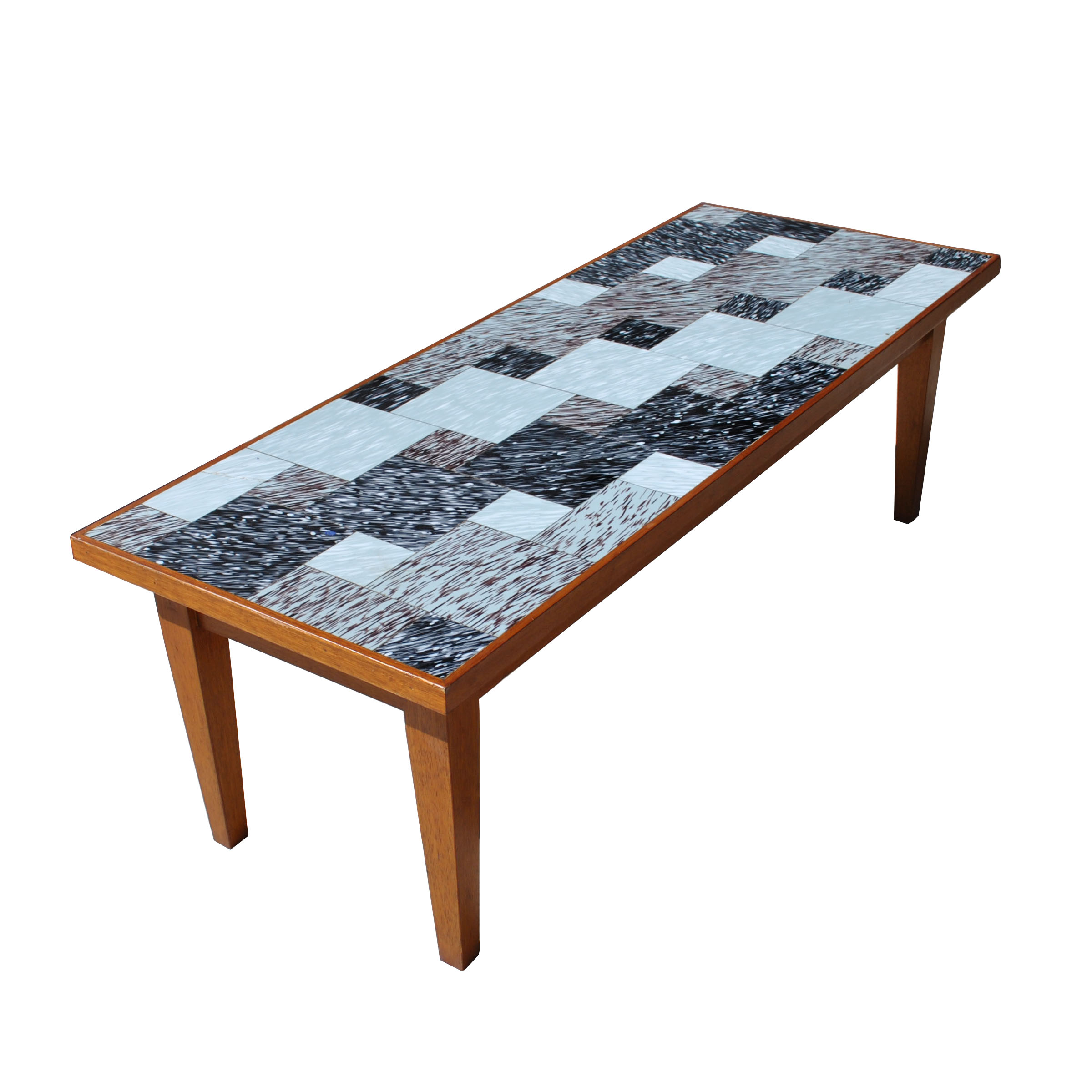 Tile Coffee Table Set: MidCentury Retro Style Modern Architectural Vintage