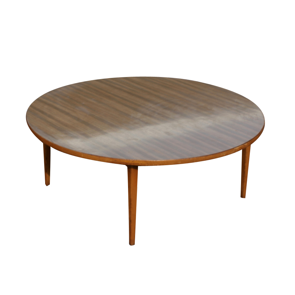 Vintage mid century wood coffee table mr11465 ebay Round coffee tables