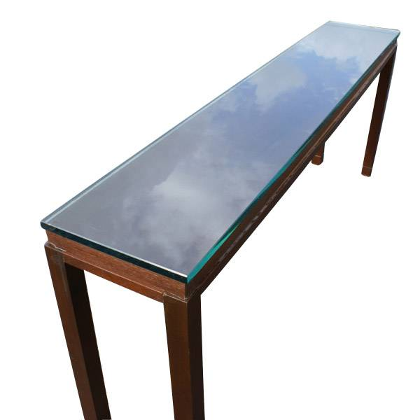 Midcentury retro style modern architectural vintage for 6ft sofa table