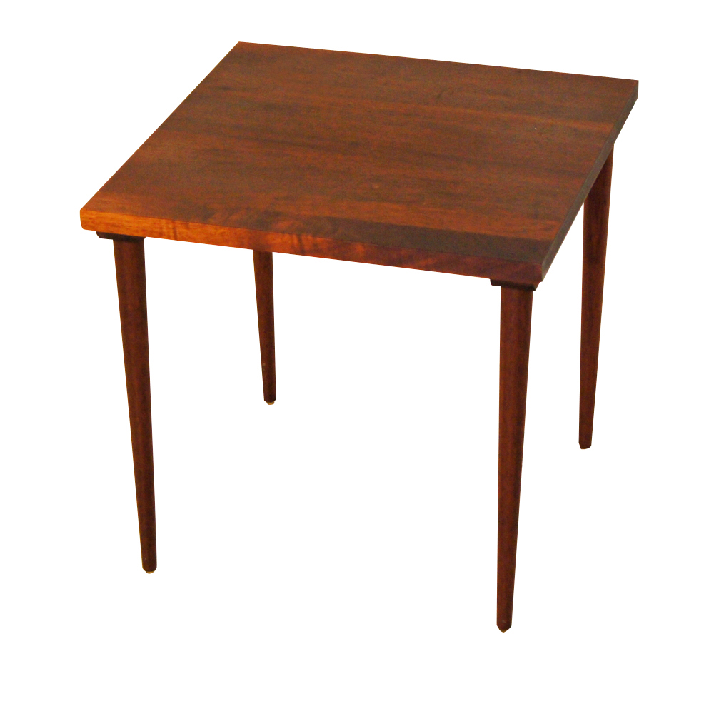 Vintage Mid Century Modern Mahogany Solid Wood Side Table