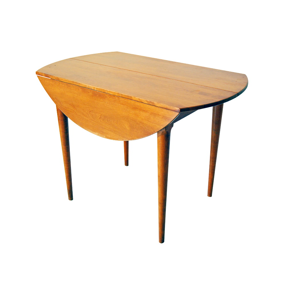 ... Russel Wright Conant Ball Birch Drop Leaf Dining Table PRICE REDUCED
