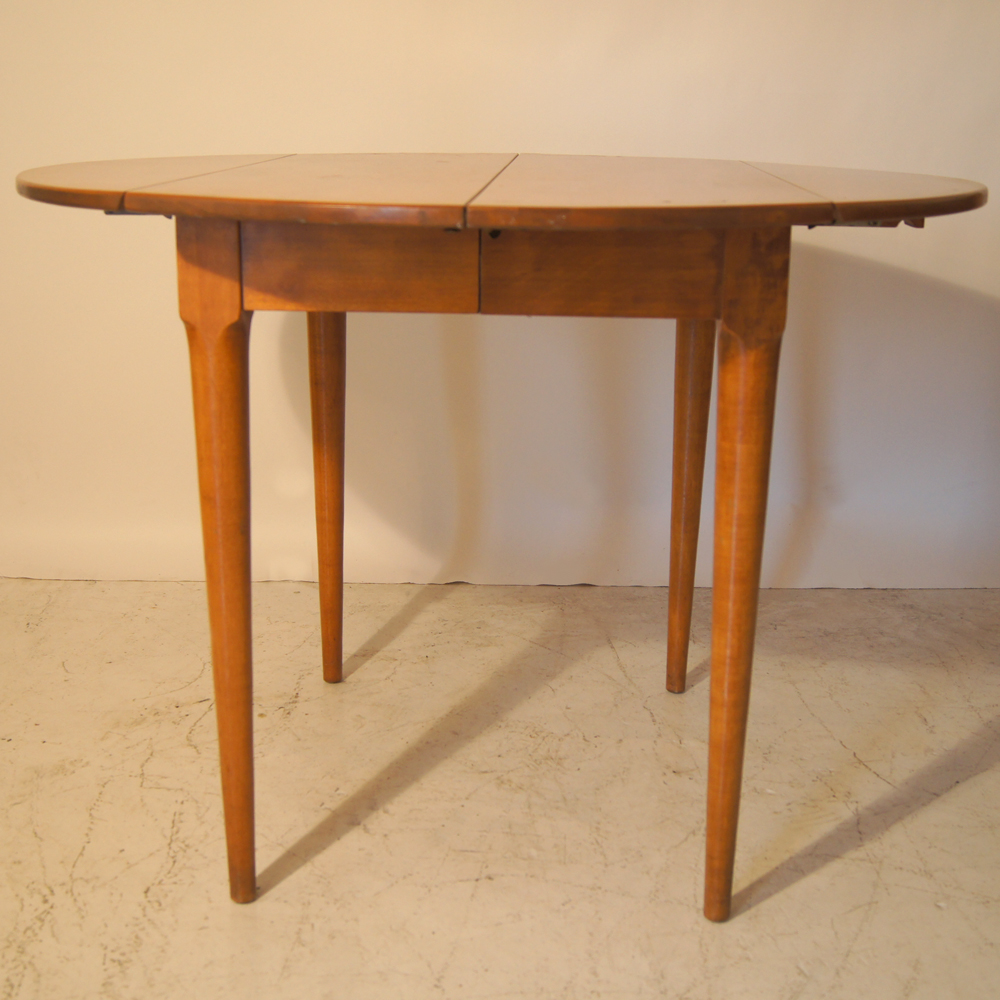 Vintage Russel Wright Conant Ball Birch Drop Leaf Dining