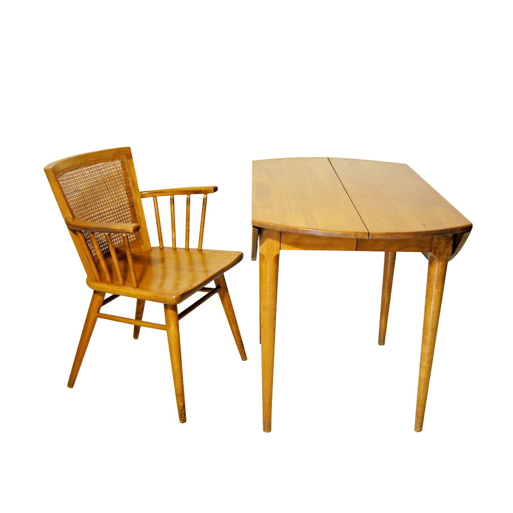 wright conant ball birch drop leaf dining table price reduced ebay
