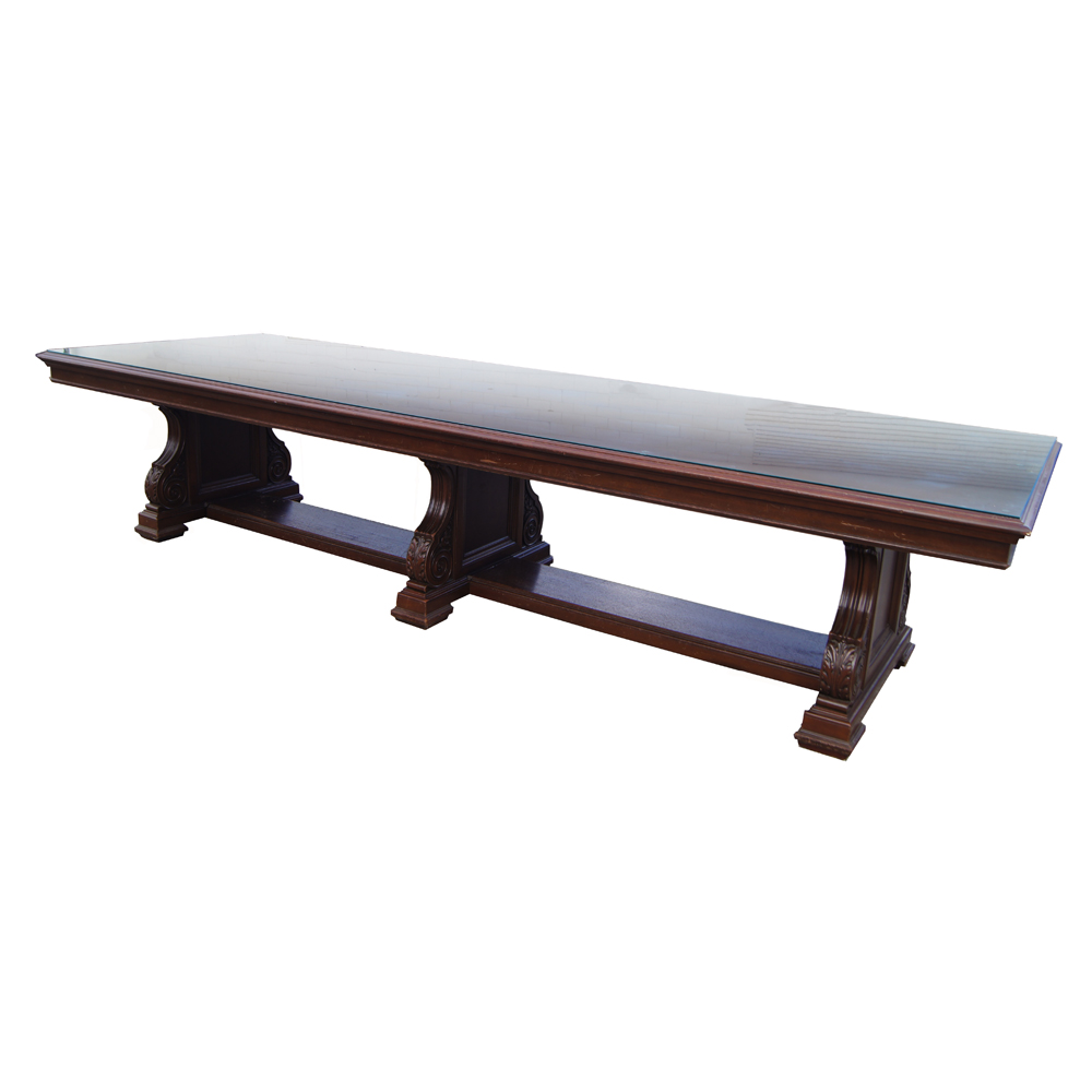Midcentury retro style modern architectural vintage for 12 ft table