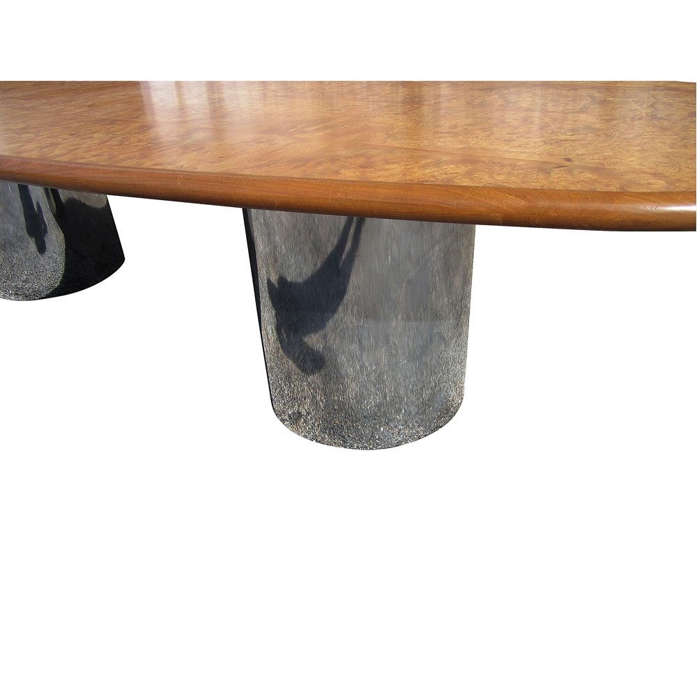 MidCentury Retro Style Modern Architectural Vintage Furniture From - Conference table bases wood