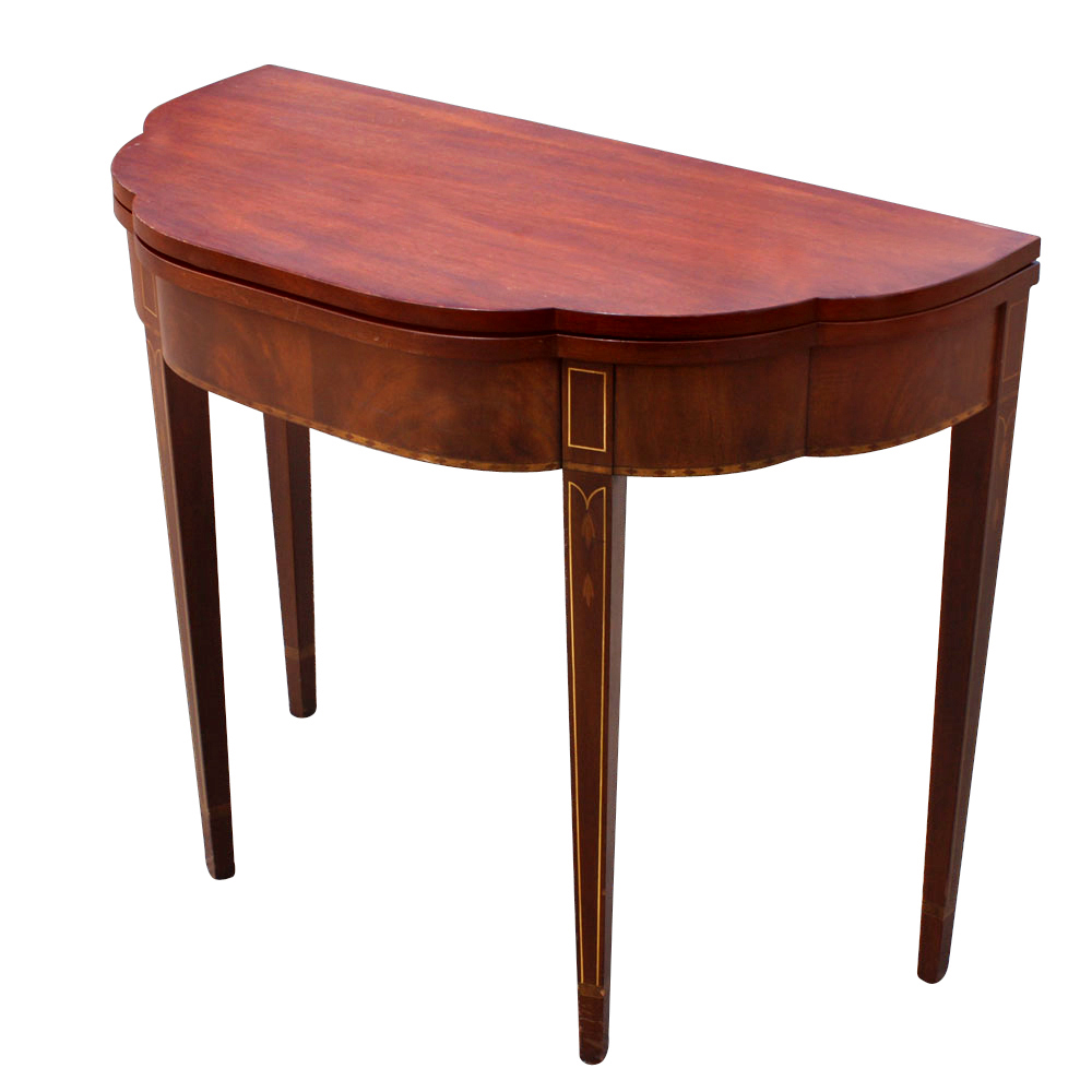 hall console table wood veneer four legged round console table ...