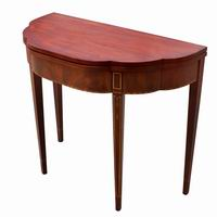3ft Traditional Round Demilune Hall Console Table