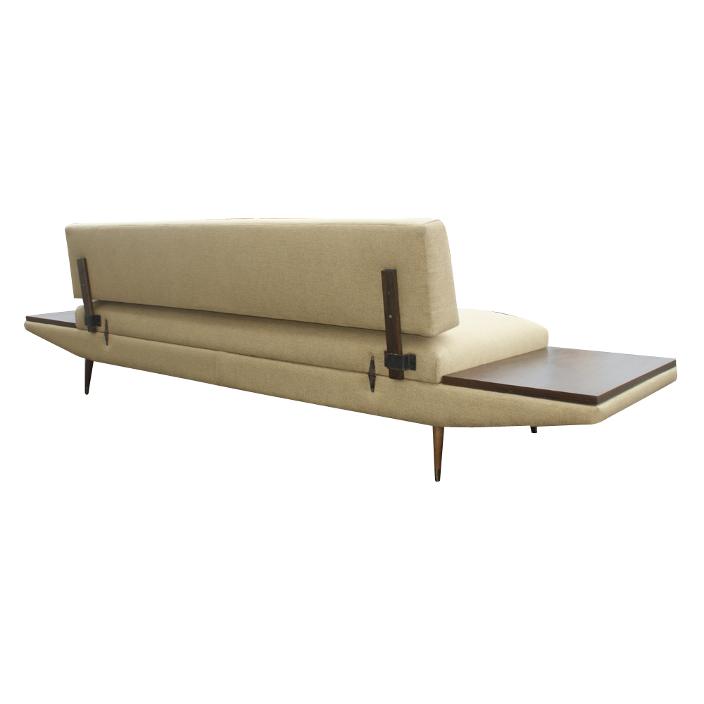 Midcentury retro style modern architectural vintage for Sectional sofa with table attached