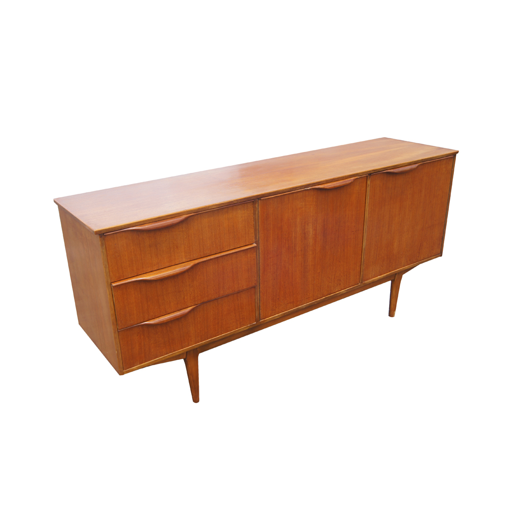 "Mid Century Modern Split Level 1956 Edition Better Homes: 66"" Vintage Mid Century Modern Teak Sideboard Credenza"
