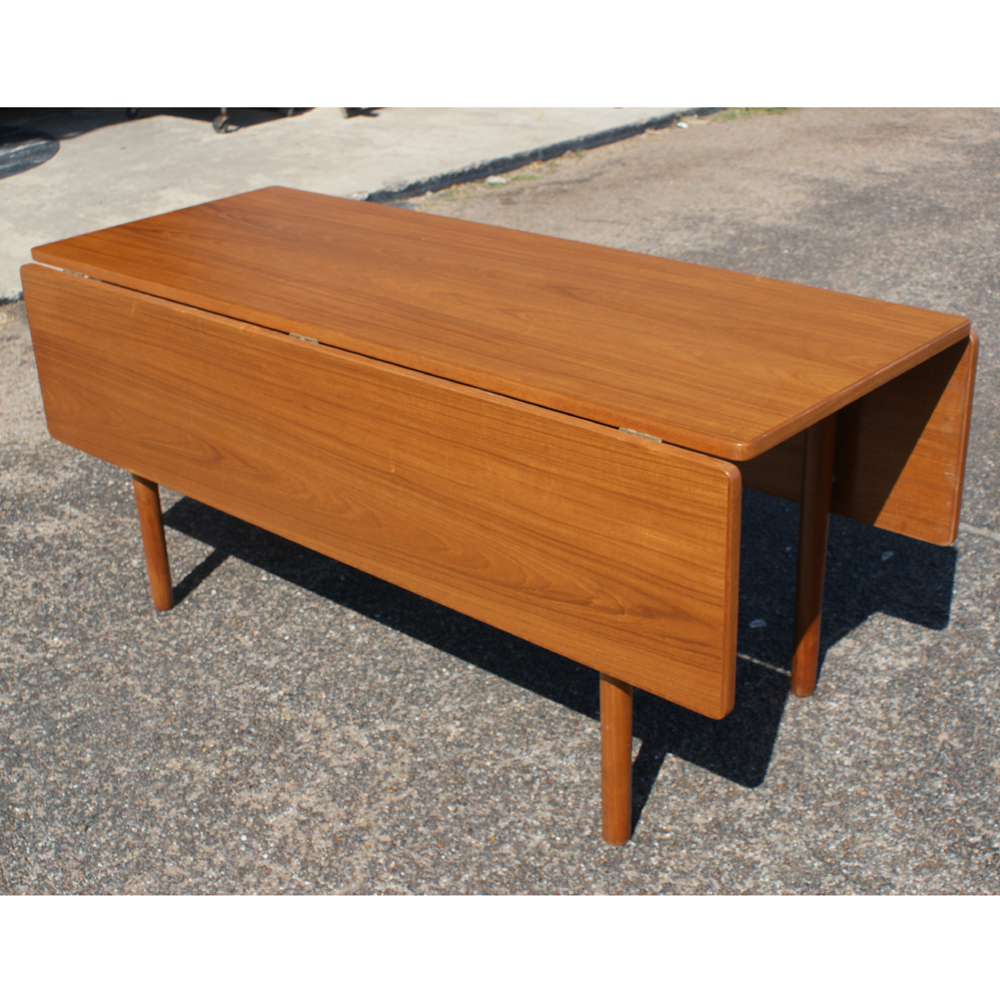 Mid Century Modern Drop Leaf Dining Table