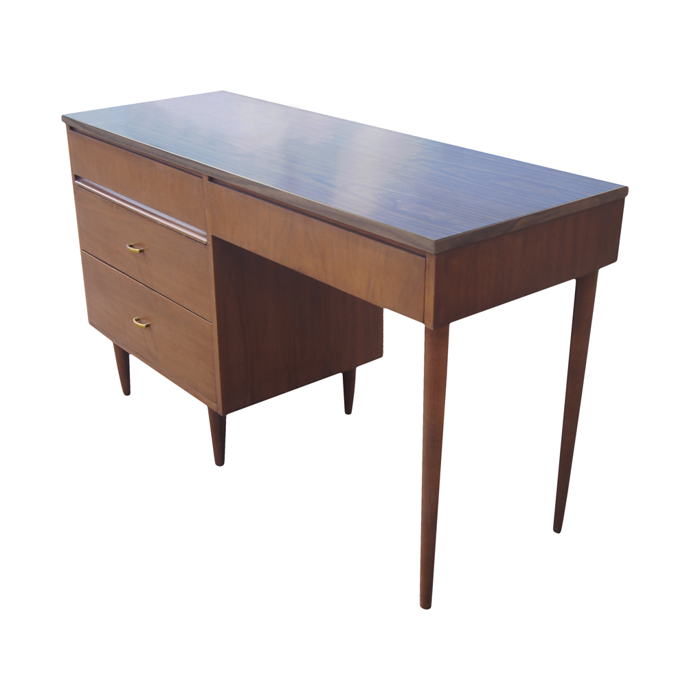 Retro modern desk mid century modern desk atomic desk - Retro office desk ...