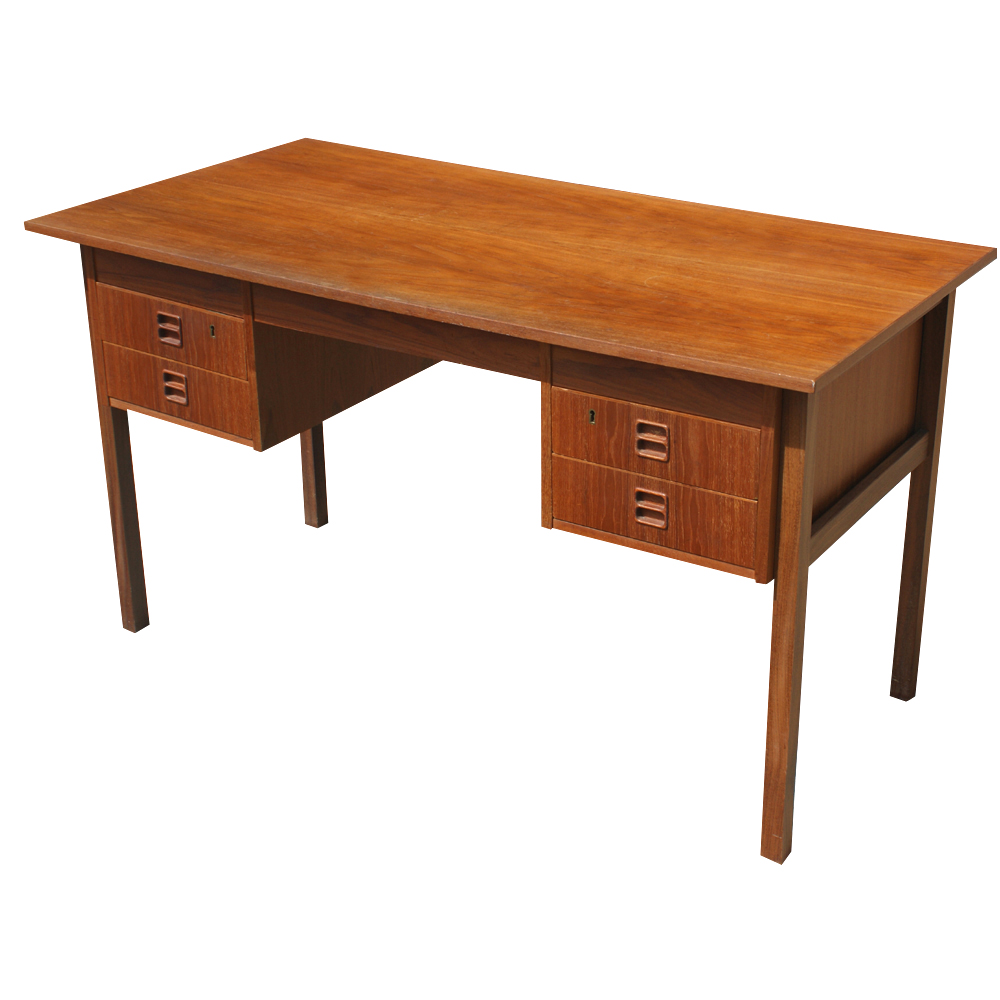 51 Danish Teak Wood Desk Mr9018 Ebay