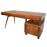 vintage italian art deco style desk with chrome accents art deco desk computer