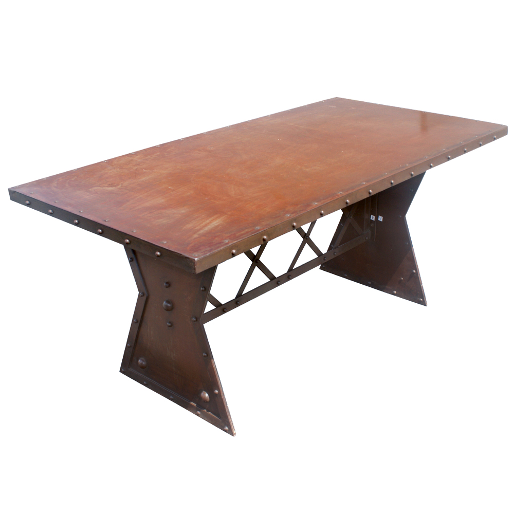 retro furniture 72 industrial machine age french steel dining table
