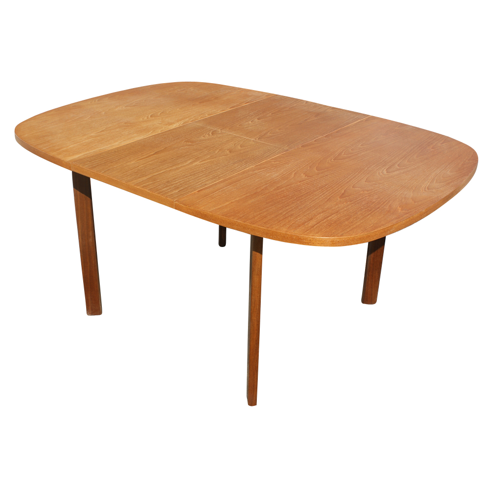 "Sheraton Style Furniture Details about 62"" Vintage Teak Danish Extension Dining Table"