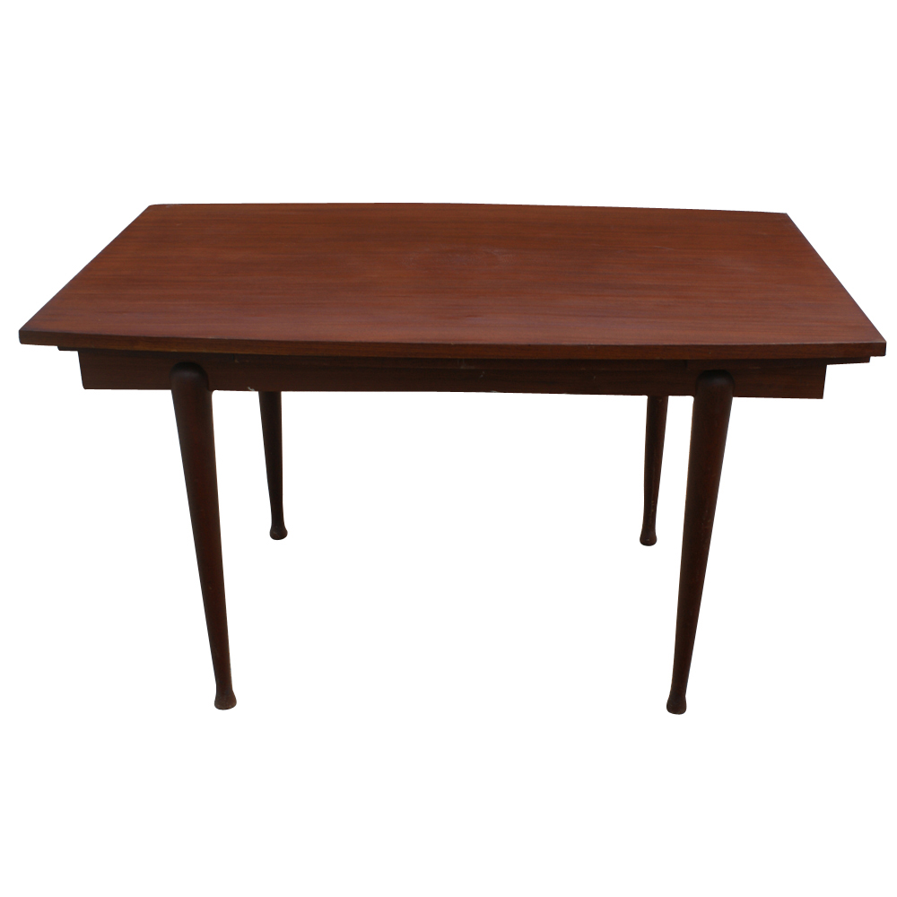 Vintage danish mahogany dining extension table ebay for On the dining table