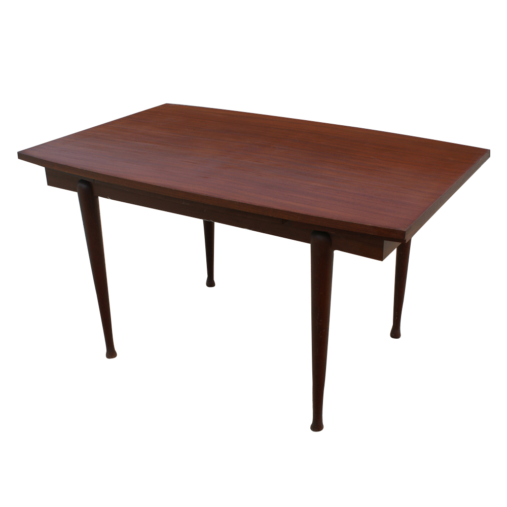 Vintage danish mahogany dining extension table ebay for Extension dining table