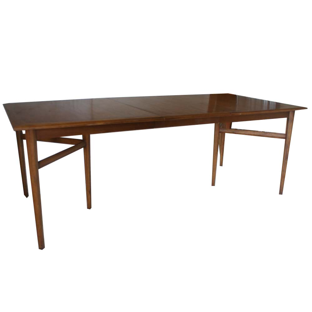 Details About 84 Vintage Heritage Extension Walnut Dining Table