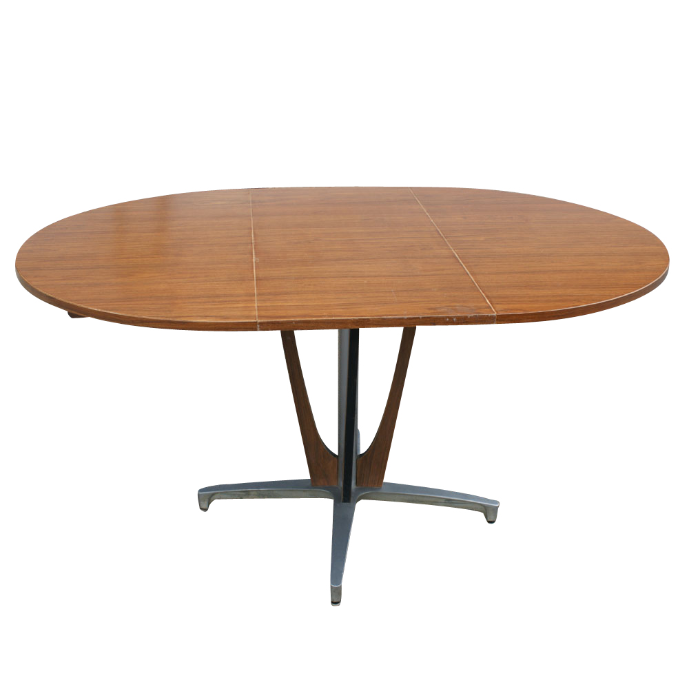 Vintage chromcraft dining extension table 6 chairs ebay for Dining table chairs