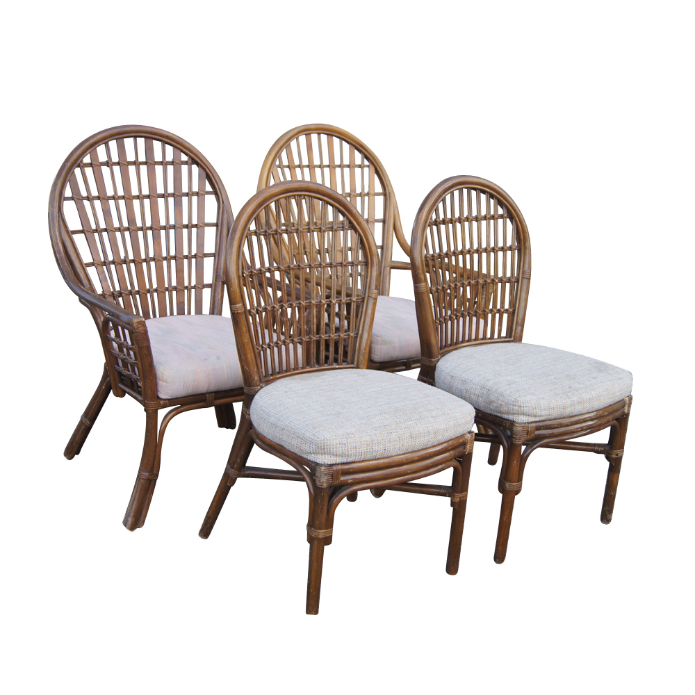 vintage rattan dining table and chairs ebay