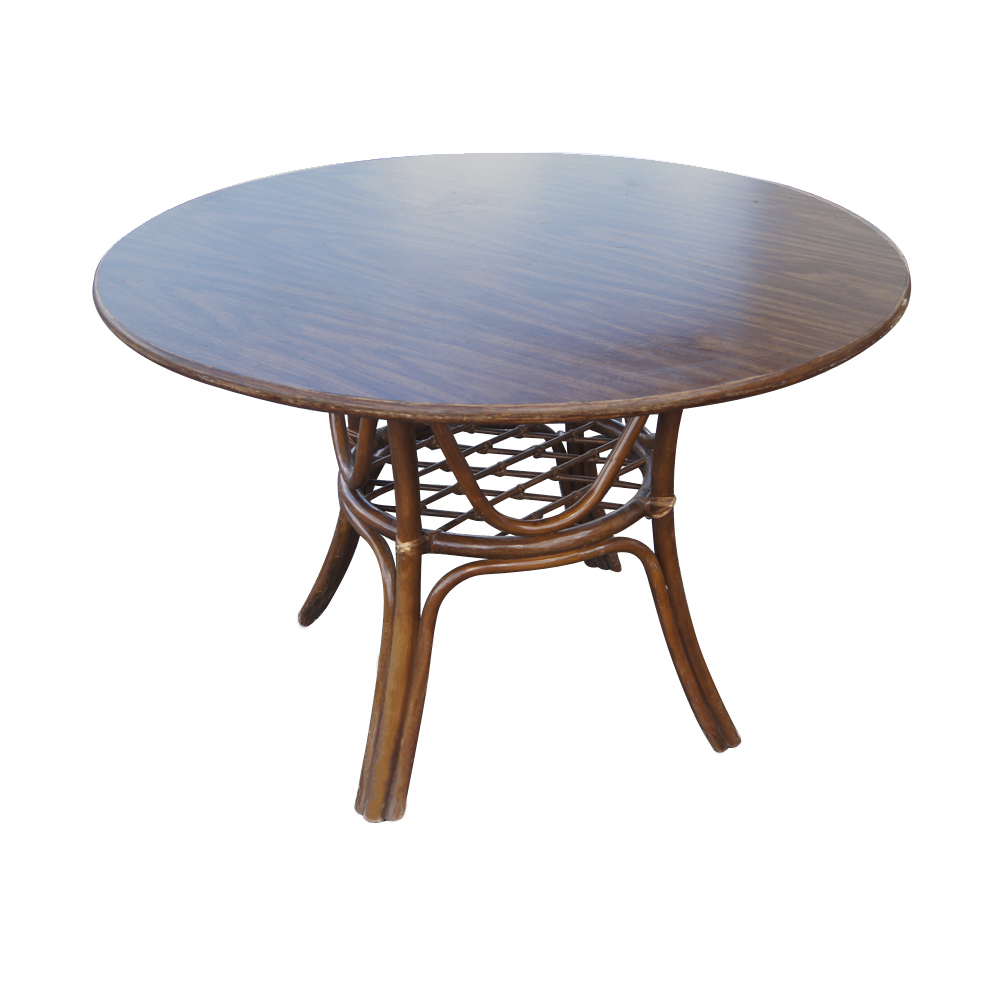 Details About Vintage Rattan Dining Table And Chairs