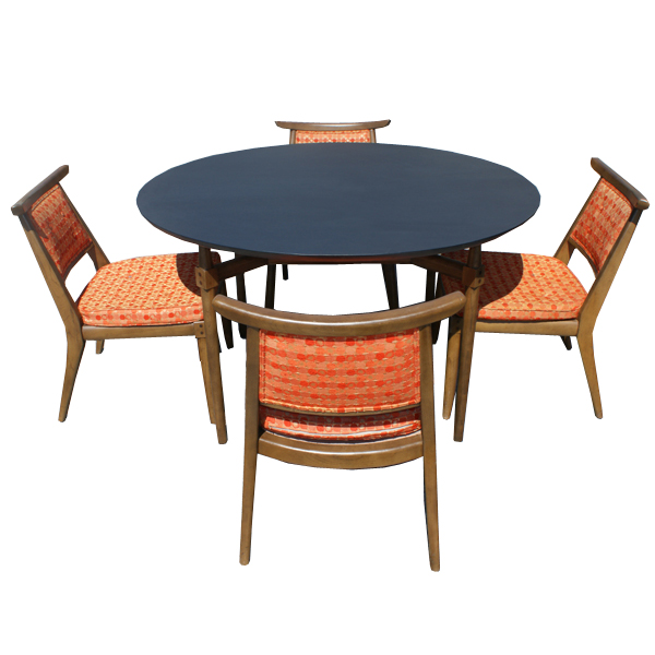 Retro Dining Room Chairs: Vintage Danish Dining Set Table And 4 Side Chairs