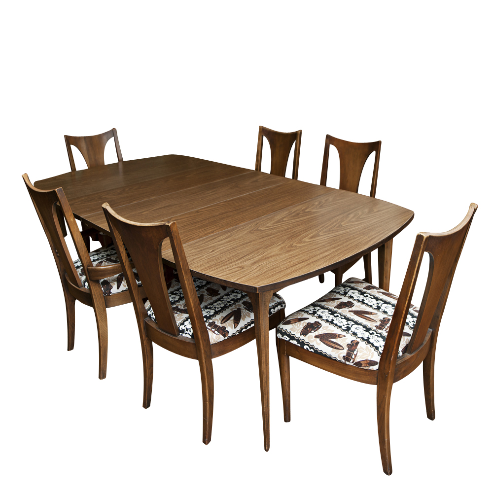 Vintage mid century dining table and chairs ebay for Classic dining tables and chairs