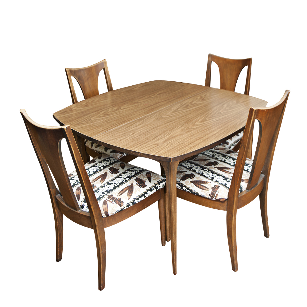 Vintage mid century dining table and chairs ebay - Retro dining room chairs ...