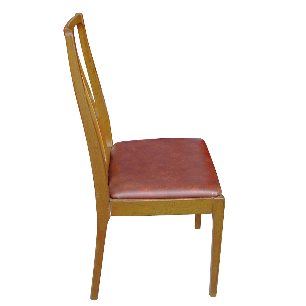 6 danish mid century modern dining chairs ebay for Restaurant furniture