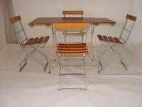Vintage Beer Garden Folding Table Folding Chairs - eBay (item 270102578736 end time Jan-16-08 08:03:59 PST)
