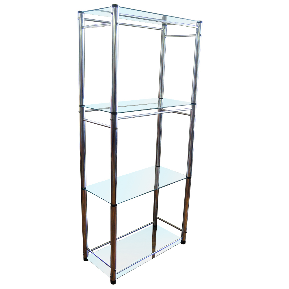 Vintage mid century glass chrome etag re ebay - Etagere string vintage ...