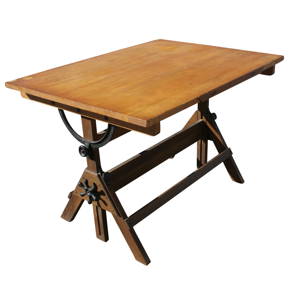 Categories - Vintage Drafting Light Table Desk Wood Glass EBay