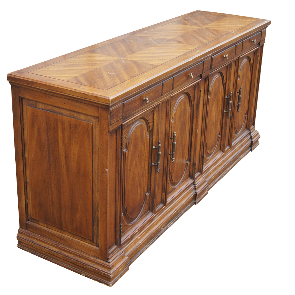 64 Traditional Style Hickory Credenza Buffet Mr11752 Ebay