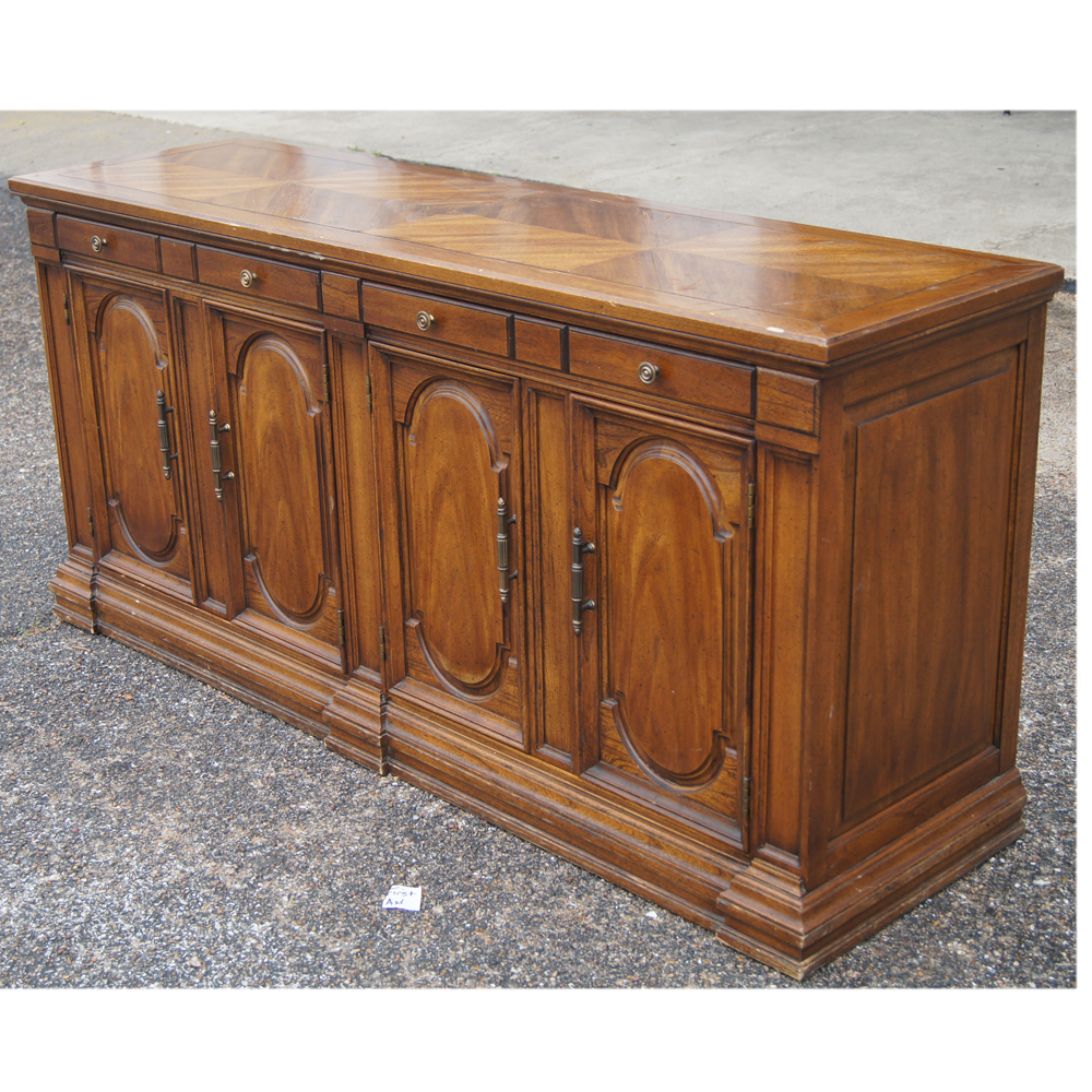 64 Traditional Style Hickory Credenza Buffet EBay