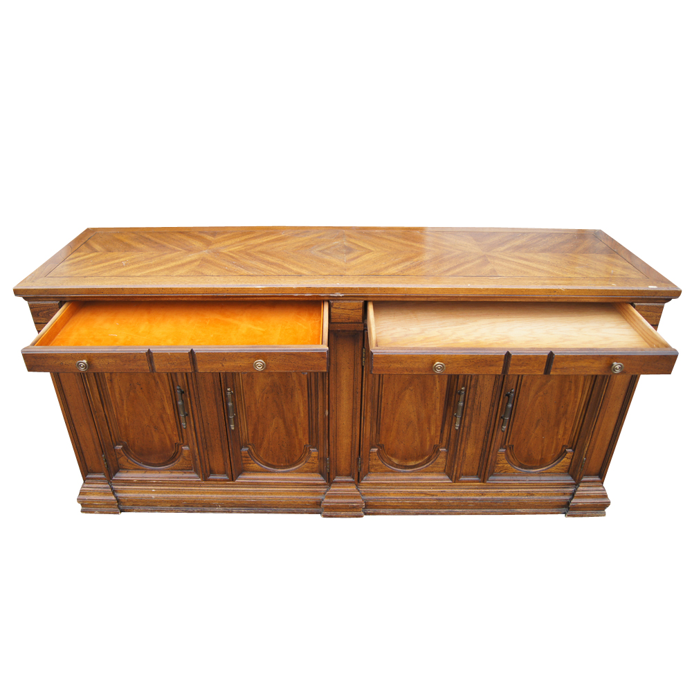 """Traditional Furniture Manufacturers: 64"""" Traditional Style Hickory Credenza Buffet (MR11752)"""