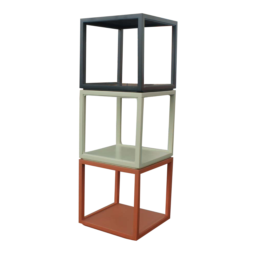 Edward wormley wood stacking unit side end tables ebay