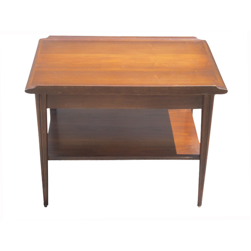Vintage mid century scandinavian style mahogany end table for Retro side table