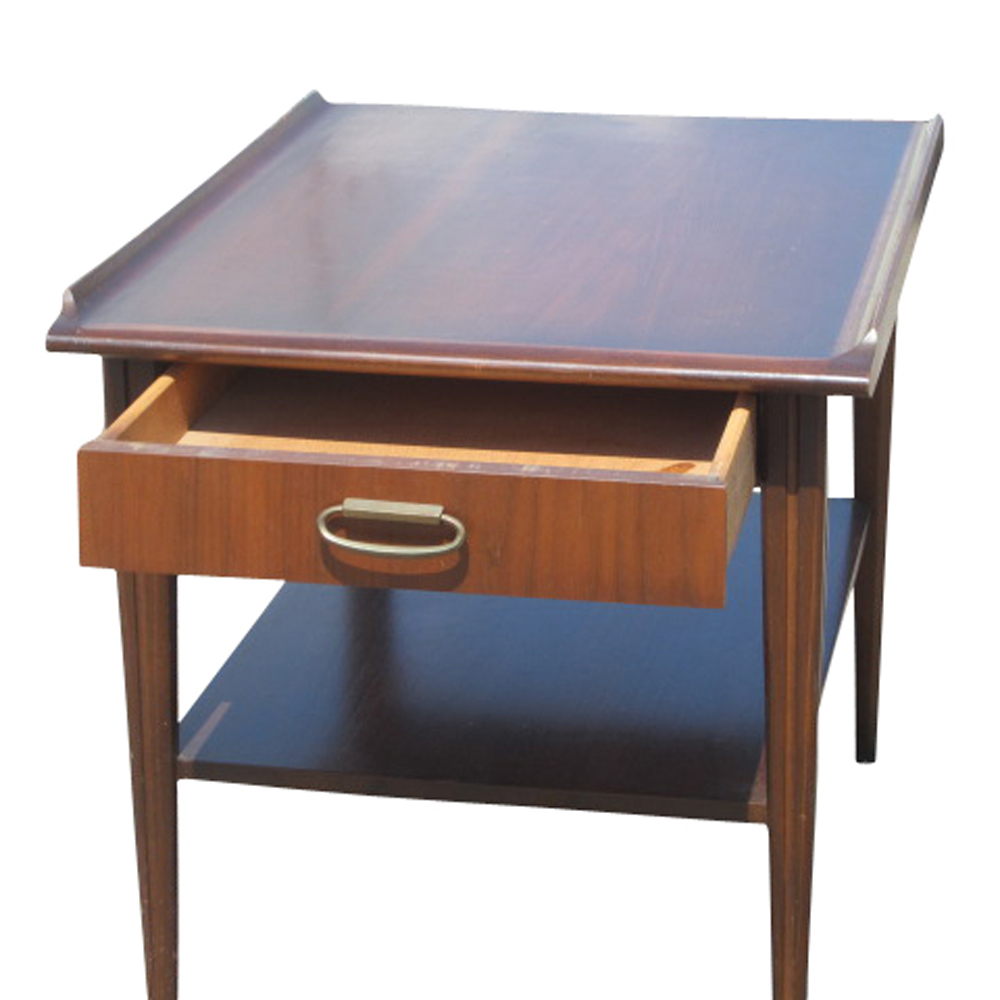 vintage mid century scandinavian style mahogany end table ebay. Black Bedroom Furniture Sets. Home Design Ideas